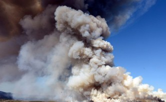 controlled burn on Army Land in Fort Ord
